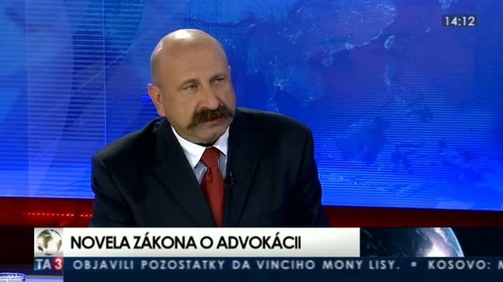 Předseda Slovenské advokátní komory Ĺubomír Hrežďovič Reprofoto: Ta3.com